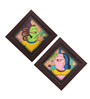 Cocovey Multicolour Canvas Textured Paglya Art Phad Painting Collage