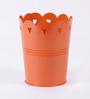 Color Palette Orange Heart Design Planter - Large