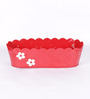 Color Palette Red Floral Planter