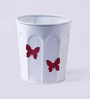 Color Palette White Butterfly Planter