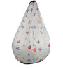 Colour Fairies Digital Printed Filled Bean Bag in Multicolour by Orka