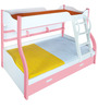 Columbia Bunk Bed in Pink & White Finish by Alex Daisy