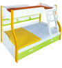 Columbia Bunk Bed in White, Yellow & Green Finish by Alex Daisy