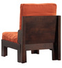 Columbia One Seater Sofa in Warm Rich Finish by Inliving