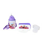 Combo Set Of Lunch Box And Water Bottle in Purple Colour by Imagica