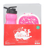 Combo Set Of Oval Lunch Box And Water Bottle in Pink Colour by Imagica