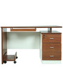 Computer/ Study Table in Brown Colour by Penache Furnishings