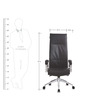 Concorde High Back Office Chair in Black colour by BlueBell Ergonomics