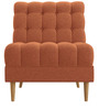 Contemporary  Slipper Chair with Deep Tufting Details