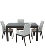 Contemporary Four Seater Dining Set in Brown Color by Afydecor
