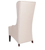 Contemporary High Back Wing Chair in Ivory Color by Afydecor