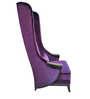 Contemporary High Back Wing Chair in Purple Color by Afydecor