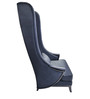 Contemporary High Back Wing Chair in Black Color by Afydecor
