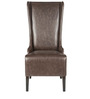 Contemporary High Back Wing Chair in Coffee Brown Color by Afydecor