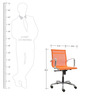 Contemporary Manager Chair in Orange Colour by FabChair