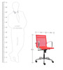 Contemporary Manager Chair in Red Colour by FabChair