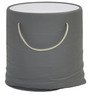 Contessa Side Table with Glass Top in Grey Colour by @home