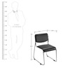 Contract Chair in Black Colour by Nilkamal