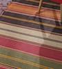 Contrast Living Multicolour Cotton 48 x 72 Inch Hand Woven Stripe Punja Dhurrie