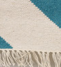Contrast Living Multicolour Cotton 78 x 117 Inch Stripe Shuttle Area Rug
