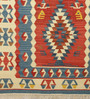Contrast Living Multicolour Wool & Cotton 48 x 72 Inch Printed Hand-Woven Dhurrie 78 x 54 Inch Printed Hand-Woven Dhurrie