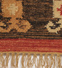 Contrast Living Multicolour Jute 60 x 36 Inch Printed Dhurrie
