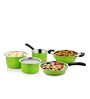 Cookaid Elite Green Stainless Steel Cookware Set - Set of 5