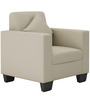 Cooper One Seater Sofa in Beige Colour by ARRA