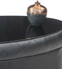 Cooper Oval Shaped Center Table in Black Colour by Durian