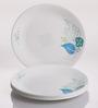 Corelle Foliage Vitrelle Glass Dinner Plates - Set of 6
