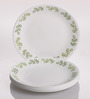 Corelle India Impressions Neo Leaf Vitrelle Glass Dinner Plates - Set of 6