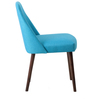 Corfinio Buttoned Arm Chair (Set of 2) in Blue Colour with Cappucino Legs by CasaCraft
