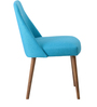 Corfinio Buttoned Arm Chair (Set of 2) in Blue Colour with Cocoa Legs by CasaCraft