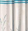 Cortina Blue Jacquard Premium Door Curtain- Set of 2