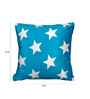 Cortina Blue Polyester 16 x 16 Inch Velvet Cushion Covers - Set of 2
