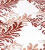 Cortina Premium Botanical Brown 100% Cotton Double Bed Sheet (with Pillow Covers) -