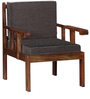 Corvallis Single Seater Sofa in Provincial Teak Finish by Woodsworth