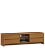Coty Entertainment Unit in Amber Teak Finish by nuhoom