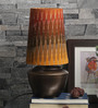 Courtyard Patola Gold Antique Table Lamp With Multi Color Shade