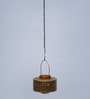 Courtyard Gold Iron Devi Hanging Tea Light Holder