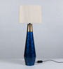 Courtyard Neelkanth Table Lamp With Matka Silk Shade
