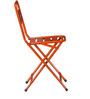 Marandoo Grunge Orange Outdoor Folding Chair by Bohemiana