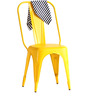 Ekati Metal Chair in Yellow Color by Bohemiana