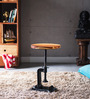 Cowal Stool cum End Table in Natural Sheesham Finish by Bohemiana