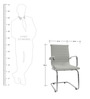 Cozy Mid back Office Chair in White Colour by FabChair