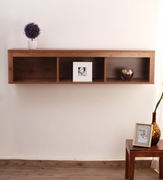 Crystal Furnitech Callisto Brown Engineered Wood Wall Shelf