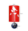 Craftter Abstract Bird Red & White Wall Lamp