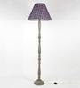 Craftter Blue Fabric Floor Lamp