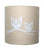 Craftter Brown Handmade Paper Owls Wall Lamp