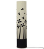 Craftter White & Black Acrylic & Metal Butterfly Floor Lamp